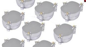 10Pcs Dental Aluminium Denture Flask Compressor Press Parts Lab Equipment Jt-12