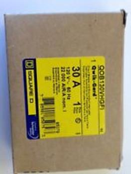 Square D Circuit Breaker Qob130Vhgfi 1Pole 30Amp Gfi 120Volt 50/60Hz