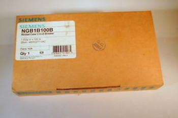 New In Box - Siemens Ngb1B100B  Circuit Breaker -