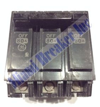 Ge General Electric Thqb32080 New Circuit Breaker 3 Pole  80 Amp 240 Vac