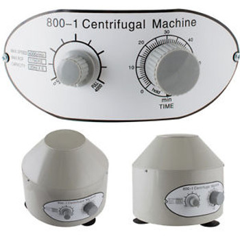 110-V Electric Centrifuge Machine Variable Speed Durable Lightweight White New