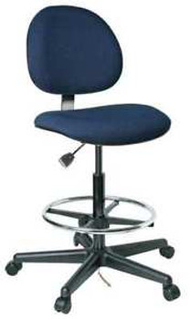 Bevco Ergonomic Chair Fabric Back Height 15 Navy V800Shc