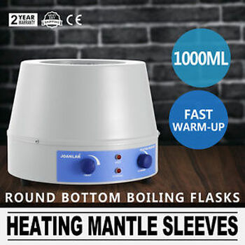 1000 Ml Heating Mantle Sleeves Speed Control Digital Display Tem-Regulation