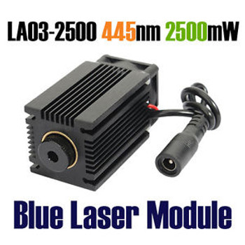 (La03-2500 445Nm 2500Mw Powerful Blue Laser Module Laser Engraver Machine