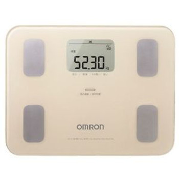 New OMRON Body Composition Meter Beige HBF-251-BG Weight Scale Fat from Japan