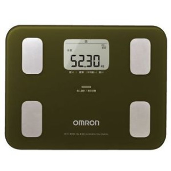 New OMRON Body Composition Meter Green HBF-251-G Weight Scale Fat from Japan