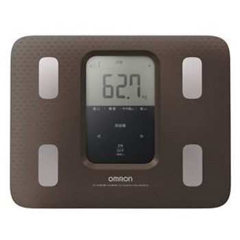 New Omron Weight Scale Body Composition Meter Karada Scan 220 Brown Hbf-220-Bw