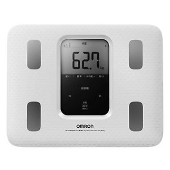 New Omron Weight Scale Body Composition Meter Karada Scan 220 White Hbf-220-W