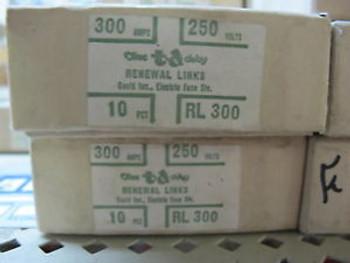 Bussman RL300 Renewable Fuse Links 300 Amp Box of 10 NEW 10