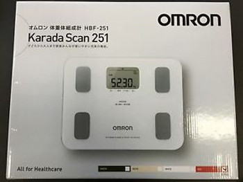 New OMRON Body Composition Meter Red HBF-251-R Weight Scale Fat from Japan