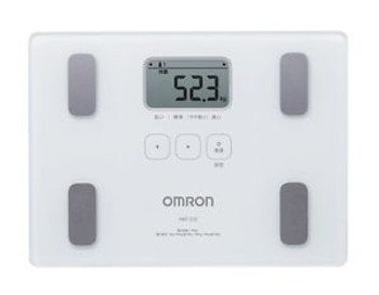 New OMRON Body Composition Meter White HBF-212 Weight Scale Fat from Japan
