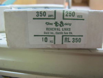 (10) Gould Rl350 350 Amp Renewable Fuse Links Box Of 10 New