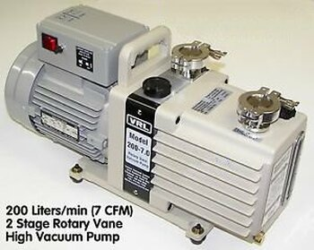 *7 CFM (200 L/MIN) 2 STAGE NEON SIGN VACUUM PUMP MANIFOLD EQUIPMENT SUPPLY