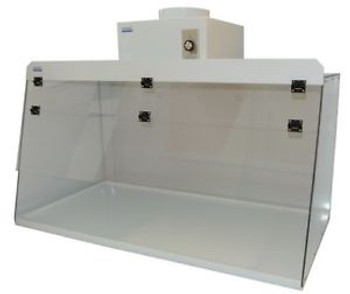 Cleatech  Clear Polycarbonate 48 Ducted Fume Hood w/ worksurface and blower