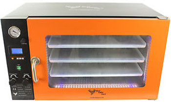 3.2CF WIDE BVV Vacuum Oven - LCD Display and LEDs - 3 Individual Heated Shelves