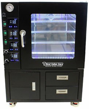 3.2CF BVV Vacuum Oven- LCD/LED-4 Individually Heated Shelves with Drawers and Pu