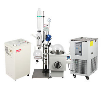 10L Industrial Rotary Evaporator Complete Turnkey  w/ Water Vacuum Pump &Chiller