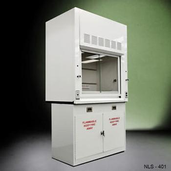 - 4 Chemical  Fume Hood W/ Flammable Base Cabinets -./-