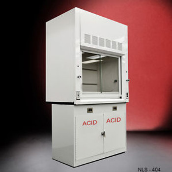- FOUR FOOT Chemical Laboratory Fume Hood w/ Epoxy Top and acid Cabinet ..