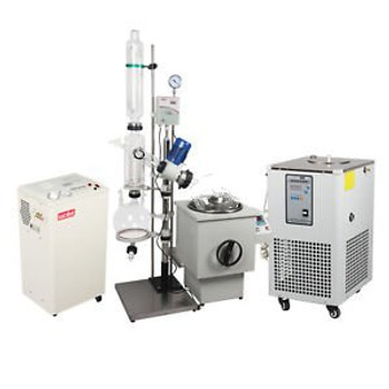 20L Industrial Rotary Evaporator Complete Turnkey  w/ Water Vacuum Pump &Chiller