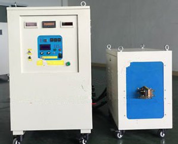 100KW 5-20KHz Dual Station Mid-Frequency Induction Heater Melter Furnace