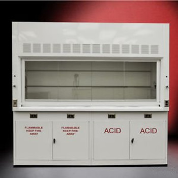 ~NEW Chemical 8 Laboratory Fume Hood NEW W/ FLAMMABLE & ACID CABINETS NEW