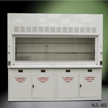 -NEW- 8 Laboratory Chemical Fume Hood with Flammable cabinets ...NLS-802