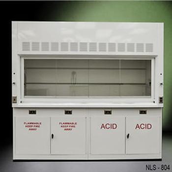Chemical 8 Laboratory Fume Hood NEW W/ FLAMMABLE & ACID CABINETS