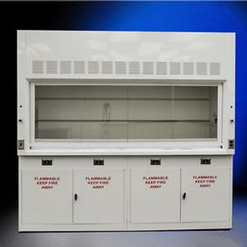 NEW 8 Laboratory Chemical Fume Hood with Flammable cabinets