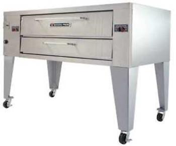 BAKERS PRIDE Y-600BL 78 x 43 x 55 1/8 Single Deck, Brick Line Gas Deck Oven