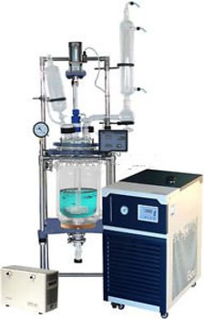 Turnkey Solution! Ai 10L Jacketed Glass Reactor w/ -30C Chiller & ULVAC Pump
