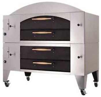 BAKERS PRIDE Y-800-DSP 84 x 51 x 65 1/8 Single Deck, Display Gas Deck Oven