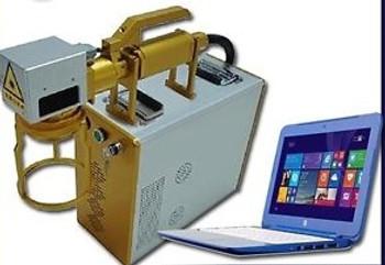 Portable detach 30W Fiber MOPA M6 Black, Color Marking / Engraving Laser FDA 2YR