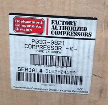 CP-P0330821 -Carrier Compressor 208/230V 1PH HP/AC