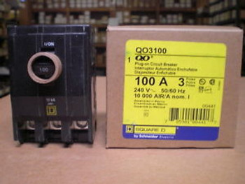 YELLOW WARRANTY 100 AMP 240 VOLT CIRCUIT BREAKER SQUARE D QO3100