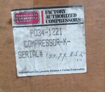 CP-P0341221-Carrier Compressor 1HP 208/230V R22 1PH AC/HP