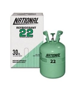 22 lb 3 oz Total Weight Refrigerant R22  Freon R-22 NATIONAL 22