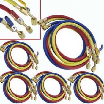 20PACK Refriger Valve Charging Hoses 60 HVAC 1/4 Refrigerant R410a R134a M5