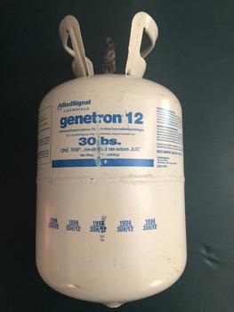 30 LB Bottle Of Genetron R12 Freon Refrigerant