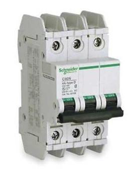 SCHNEIDER ELECTRIC 60180 Circuit Breaker Lug C60N 3Pole 20A
