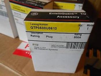 Ge Spectra Entelliguard Tu Gtp0500U0613 500Amp Circuit Breaker Rating Plug New!