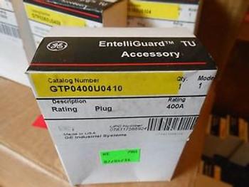 Ge Spectra Entelliguard Tu Gtp0400U0410 400Amp Circuit Breaker Rating Plug New!