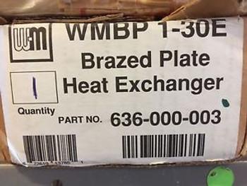 Weil Mclain Brazed Plate Heat Exchanger WMBP 1-30E 636-000-003 30 Plate  3/4