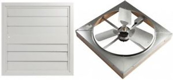 Master Flow 4500 CFM 24 in. Direct Drive Whole House Fan with Shutter