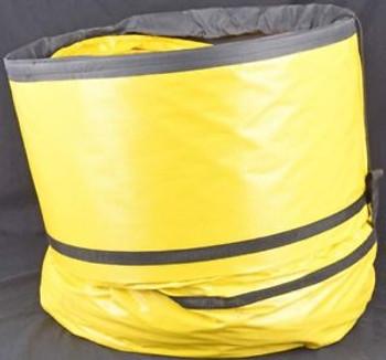 Flexaust STO-SACK Single-Ply 24x25 Yellow Polyester Fabric Hose w/Self-Storage