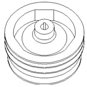 122949A1 Aux Pump Pulley-Drive For Case International Harvester 2166 2366