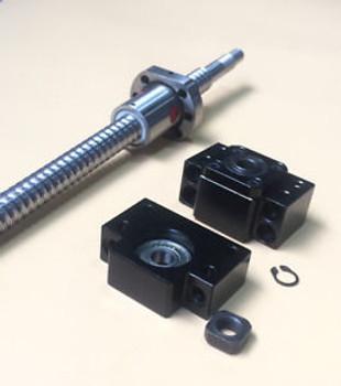 2Pcs Ballscrew Rm1605-500Mm Rm2005-1050Mm & Bk/Bf12 & Coupler [M_M_S]