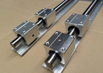 2Pcs Sbr20-1720Mm 20Mm Fully Supported Linear Rail Shaft Rod+4Pcs Sbr20Uu