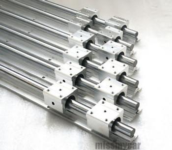 6Pcs Sbr16-380/880/1400Mm Fully Supported Linear Rail Shaft Rod+12Pcs Sbr16Uu