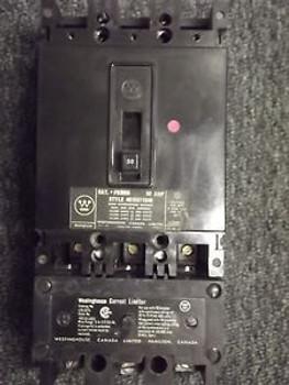FB3050 50A 600V Westinghouse Circuit Breaker w. LFB 3070 Limiter
